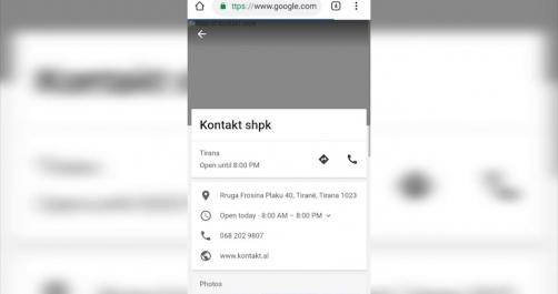 Kontakt i pari në Google